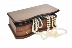 Pearl Necklaces in Jewel Box